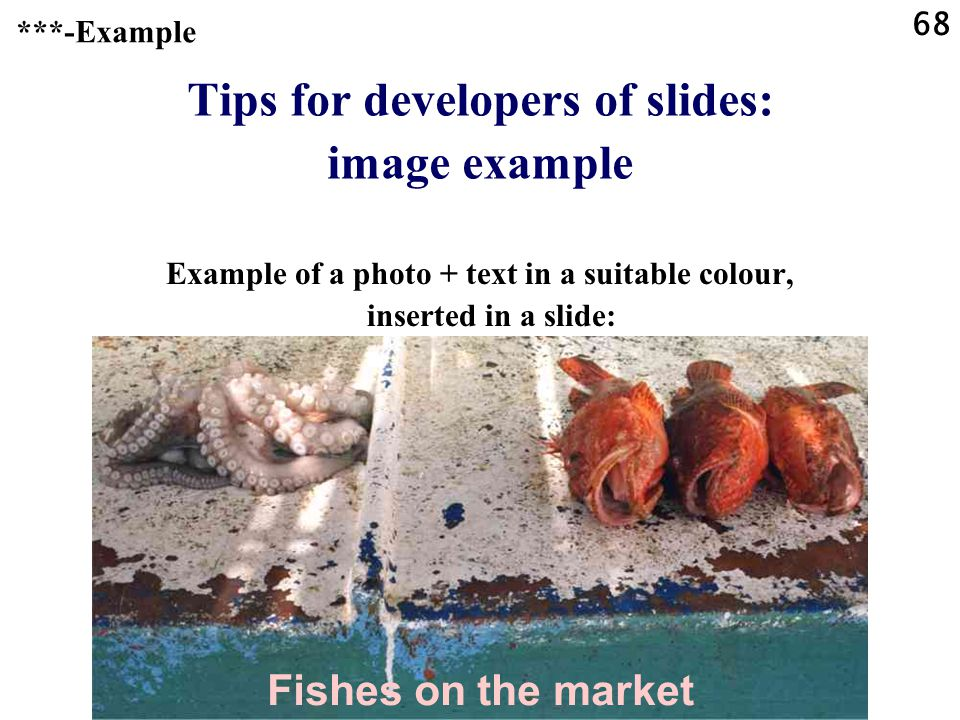 Tips for developers of slides: image example