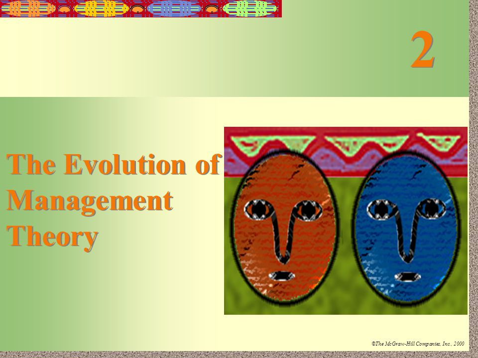 the evolution of management theory notes 'a management system is the framework of processes and procedures used to  ensure that an  the historical evolution of management theory from 1900 to  present: the changing role of leaders in organizations strategic leadership.