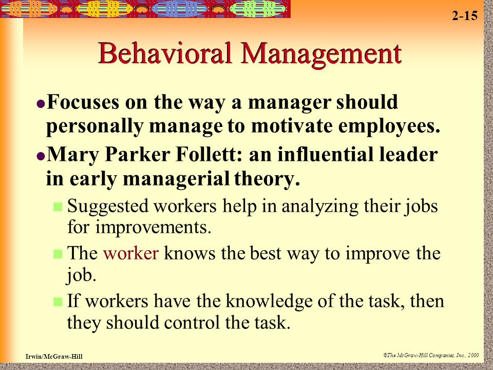 Behavioral Management
