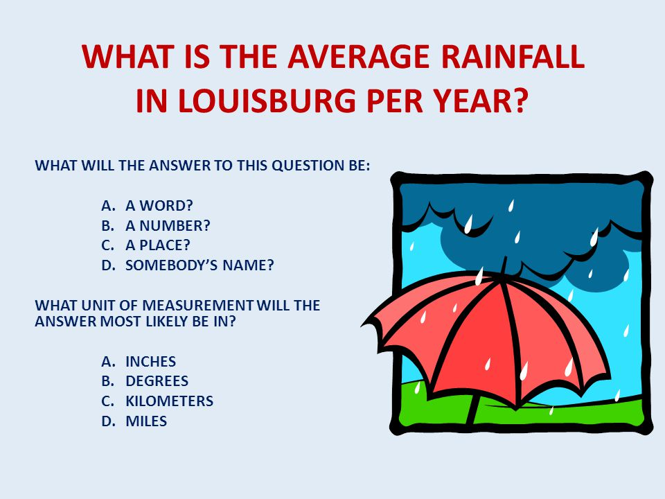 WHAT IS THE AVERAGE RAINFALL IN LOUISBURG PER YEAR