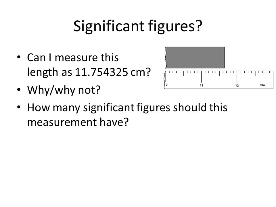 Significant figures Can I measure this length as 11.754325 cm