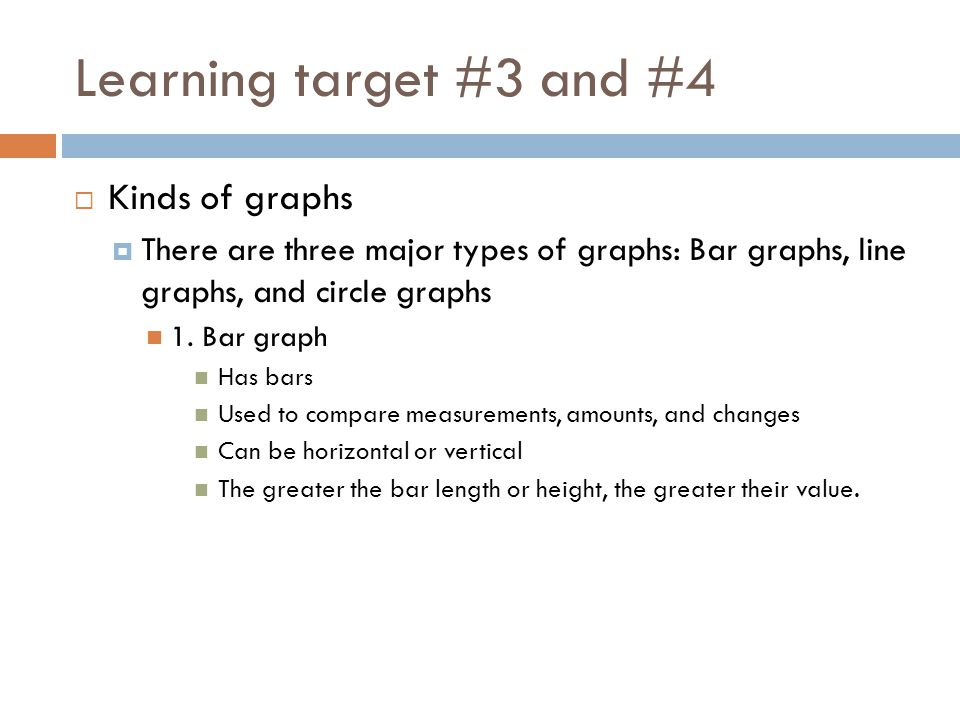 Learning target #3 and #4 Kinds of graphs