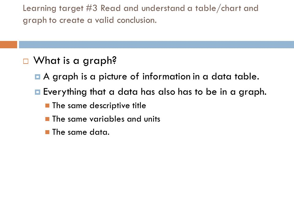 What is a graph A graph is a picture of information in a data table.