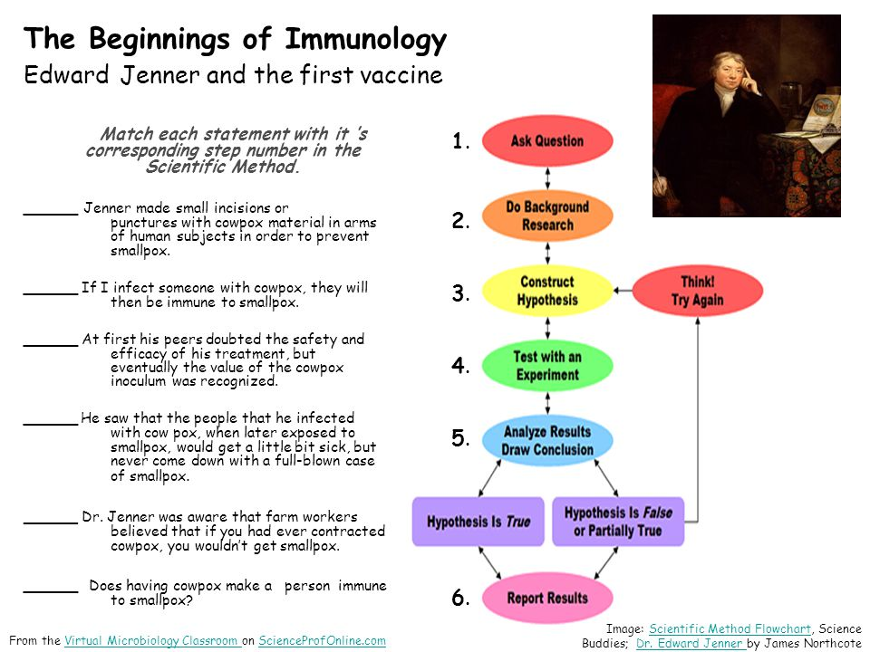 The Beginnings of Immunology Edward Jenner and the first vaccine