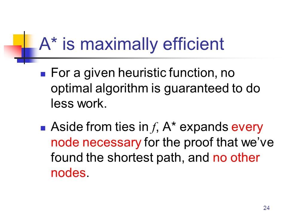 A* is maximally efficient