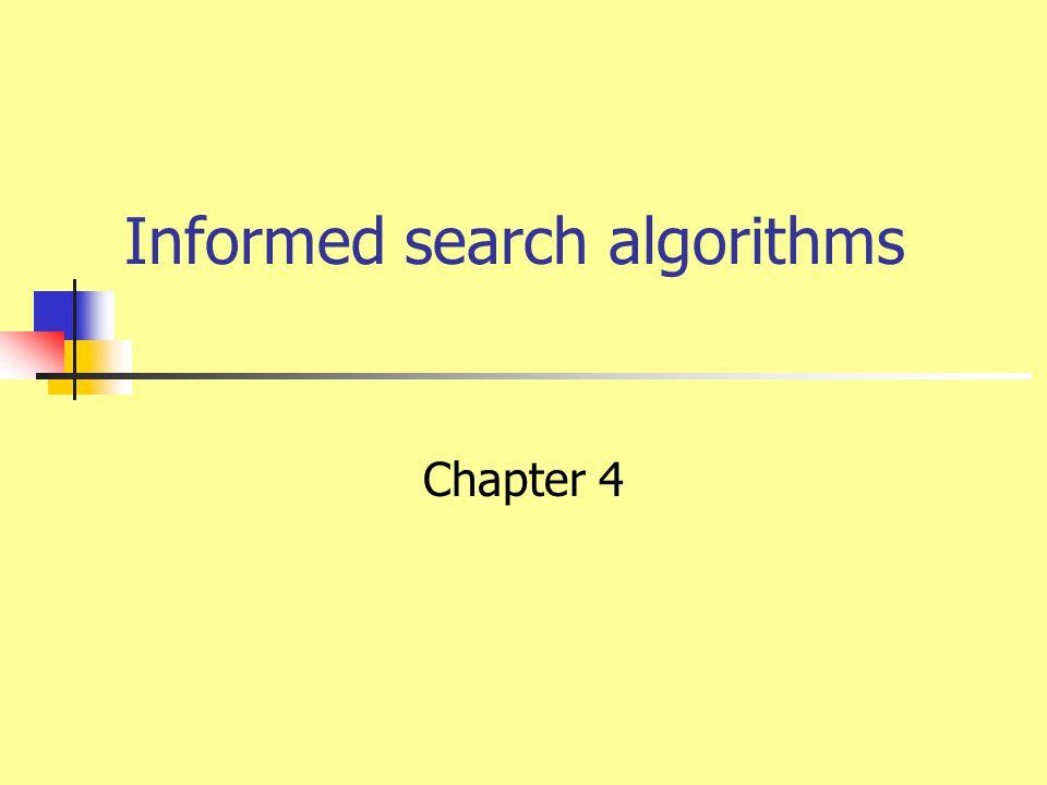 Informed search algorithms