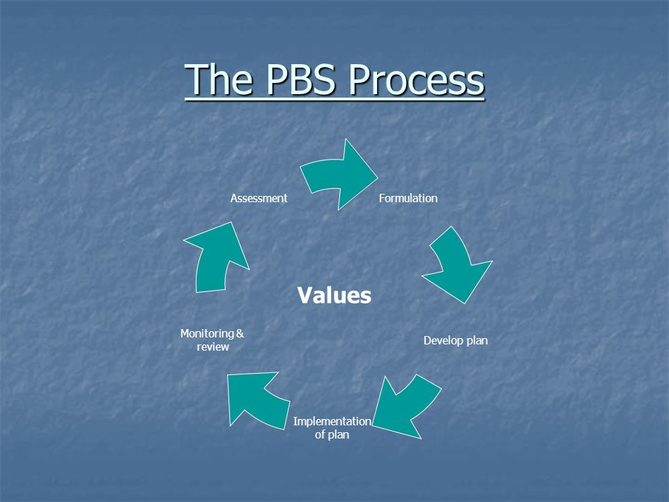 The PBS Process Values