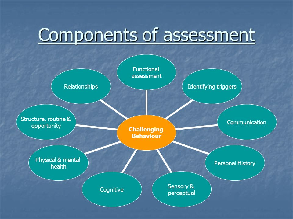 Components of assessment