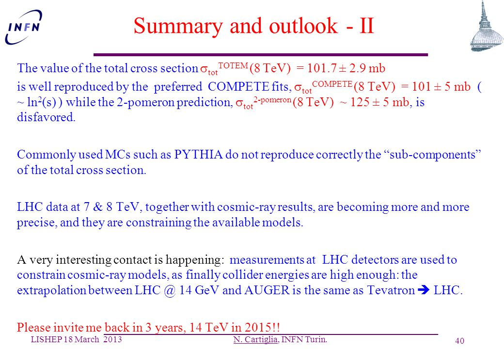 Summary and outlook - II