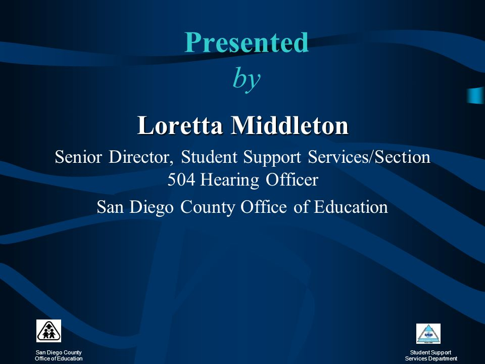 Presented by Loretta Middleton