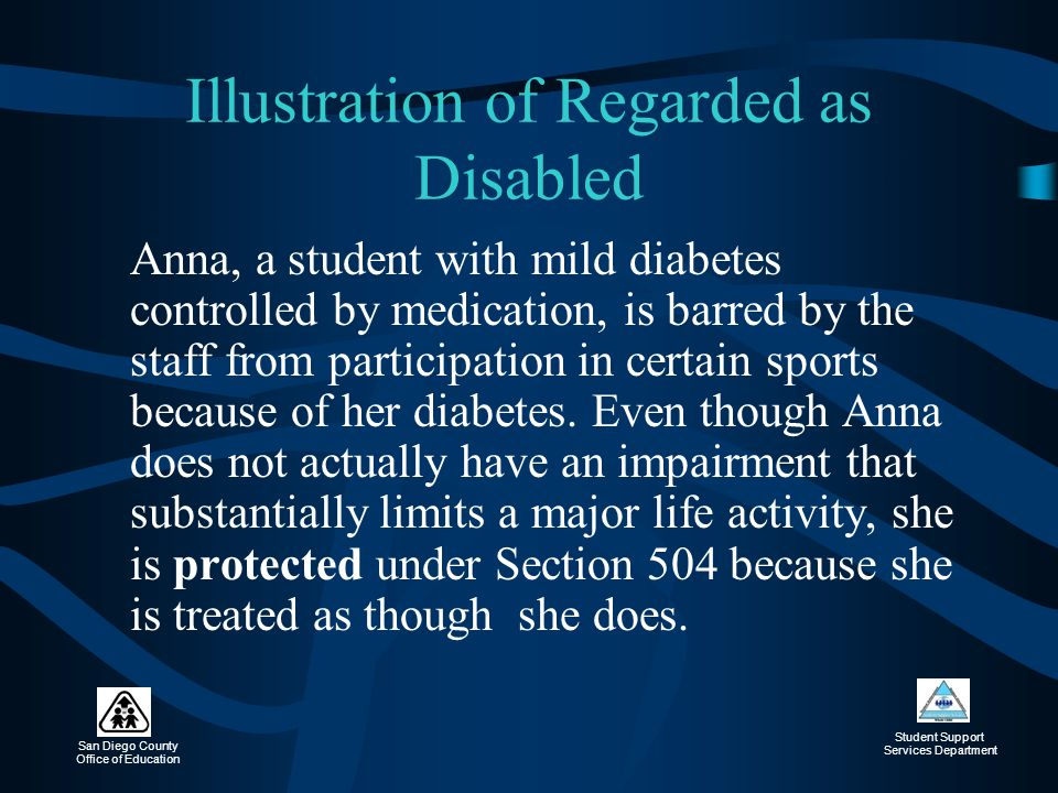 Illustration of Regarded as Disabled