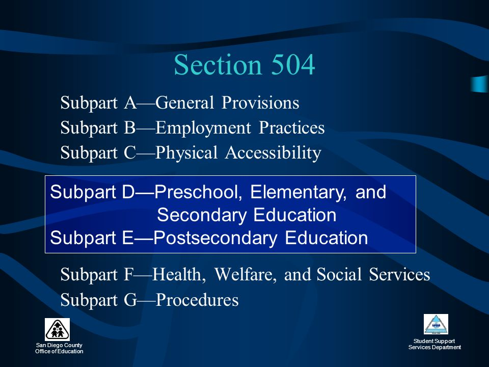 Section 504 Subpart B—Employment Practices