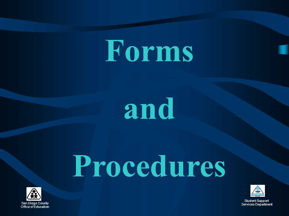 Forms and Procedures