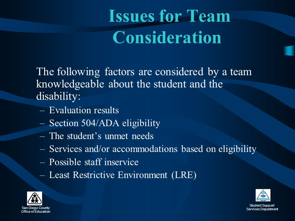 Issues for Team Consideration