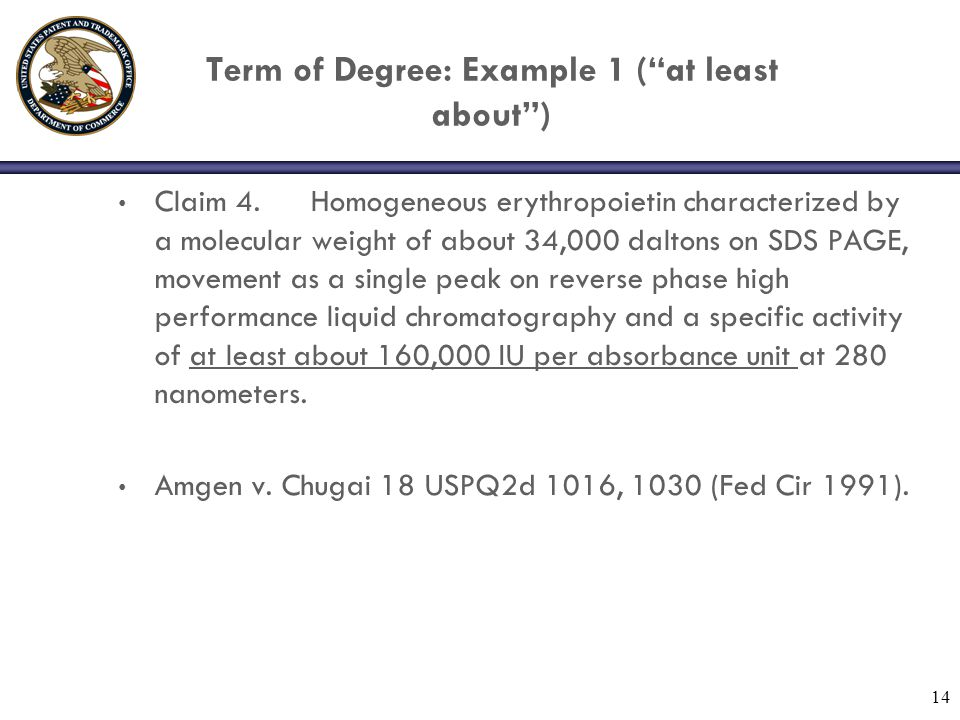 Term of Degree: Example 1 ( at least about )