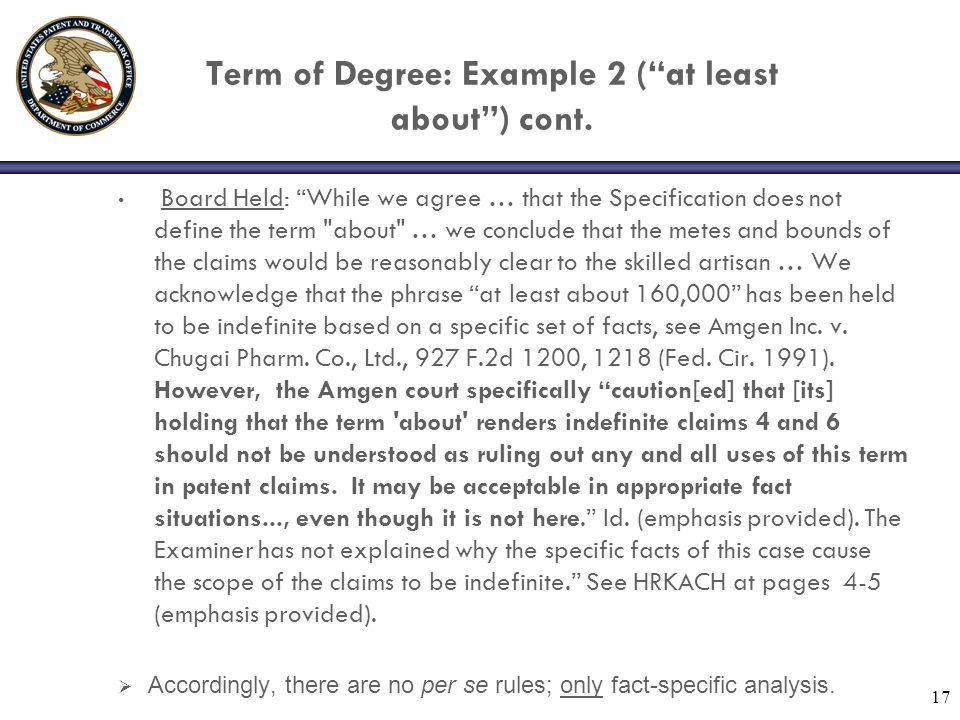 Term of Degree: Example 2 ( at least about ) cont.