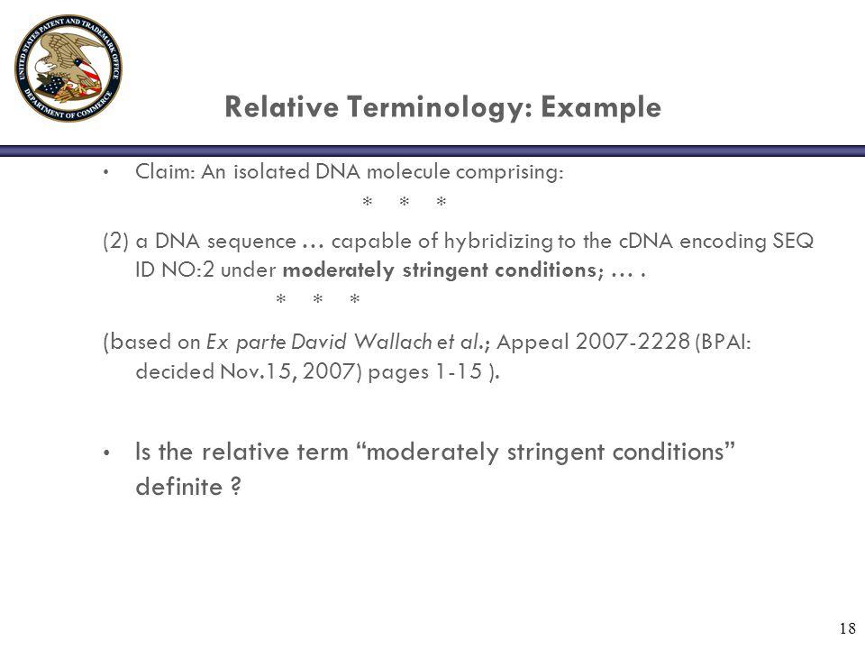 Relative Terminology: Example