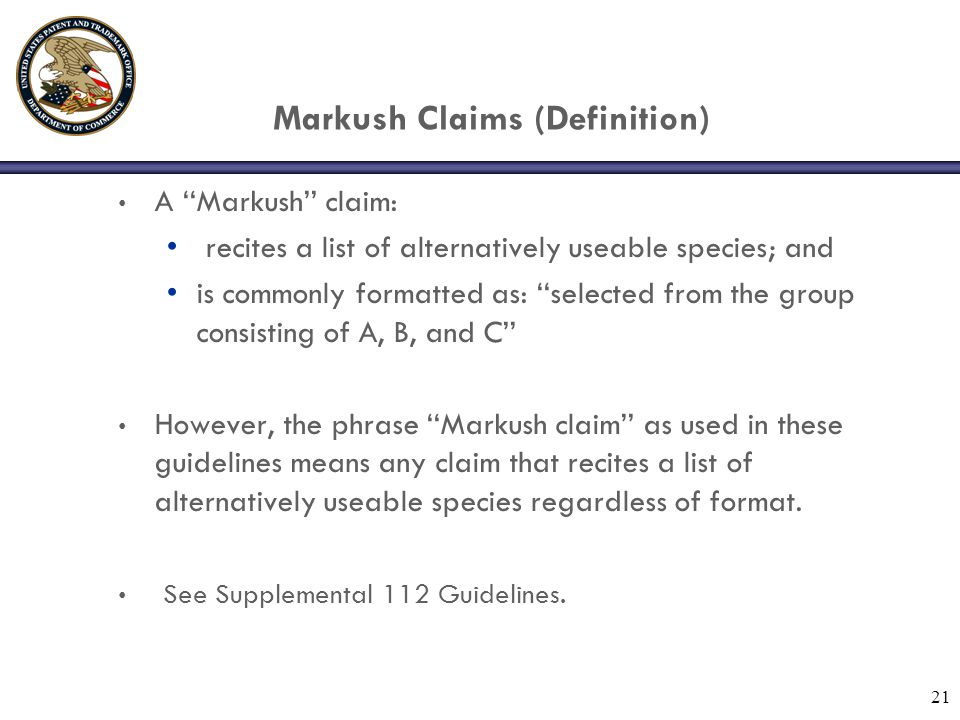 Markush Claims (Definition)