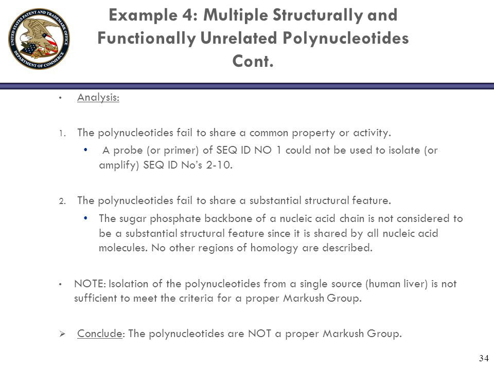 Example 4: Multiple Structurally and Functionally Unrelated Polynucleotides Cont.