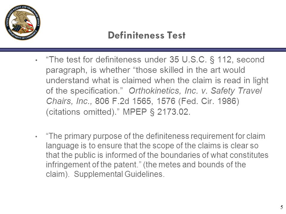 Definiteness Test