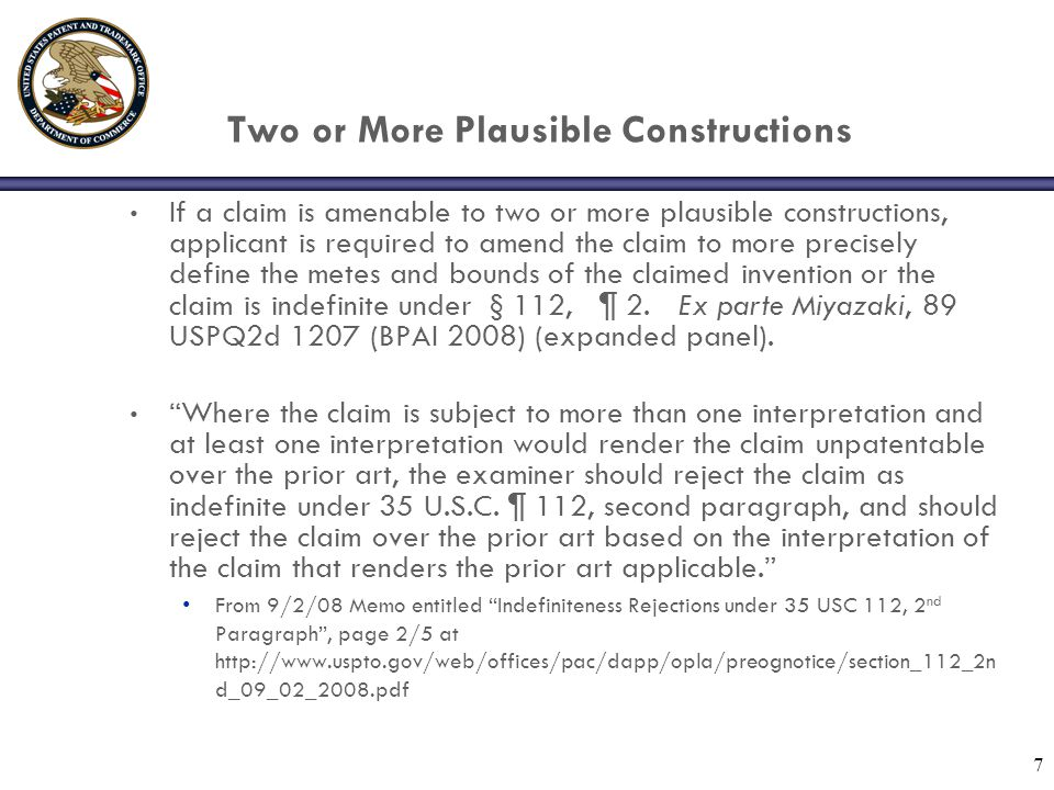 Two or More Plausible Constructions