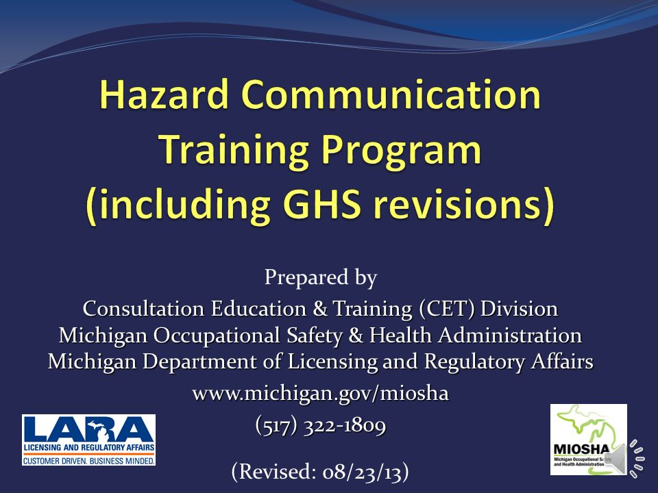 Hazard Communication Training Program (including GHS revisions)