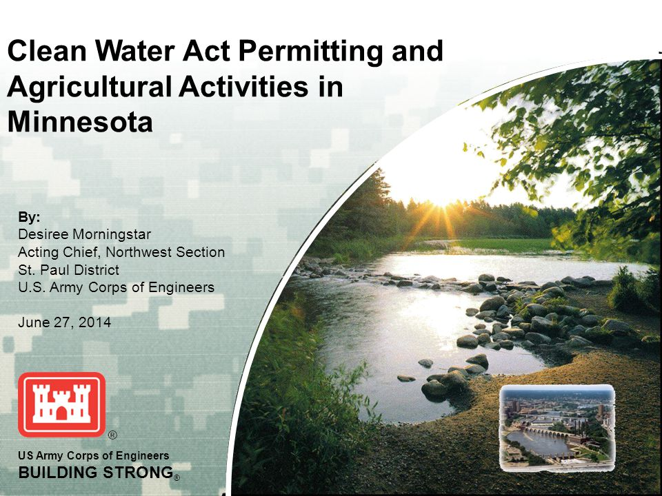 Clean Water Act Permitting and Agricultural Activities in Minnesota