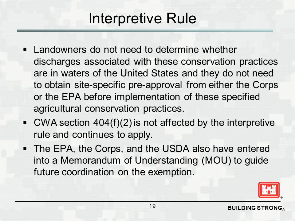 Interpretive Rule