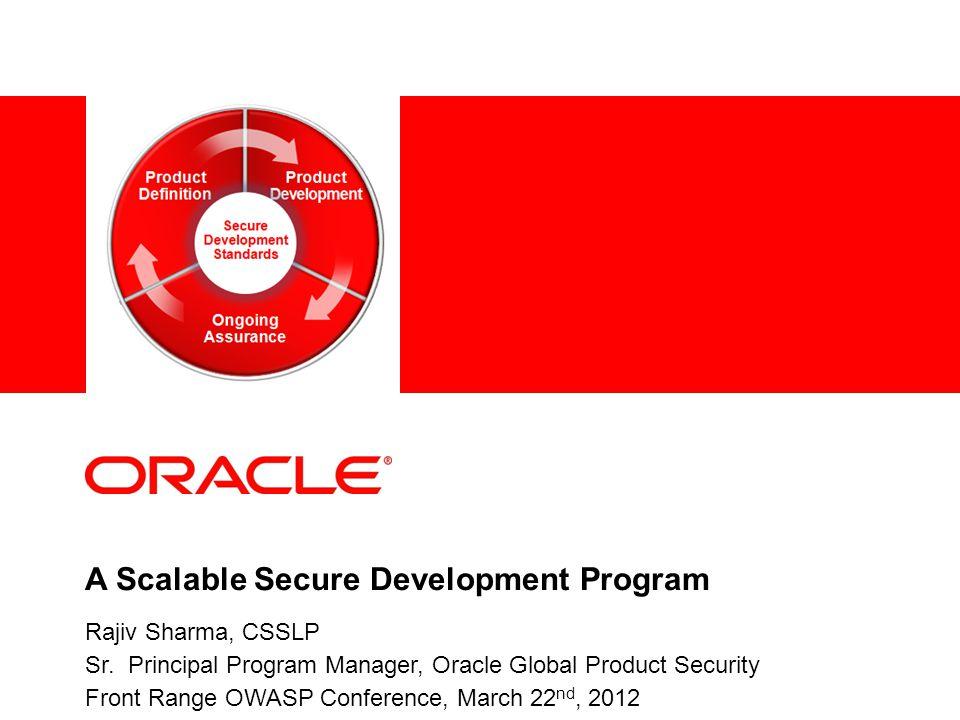 A Scalable Secure Development Program