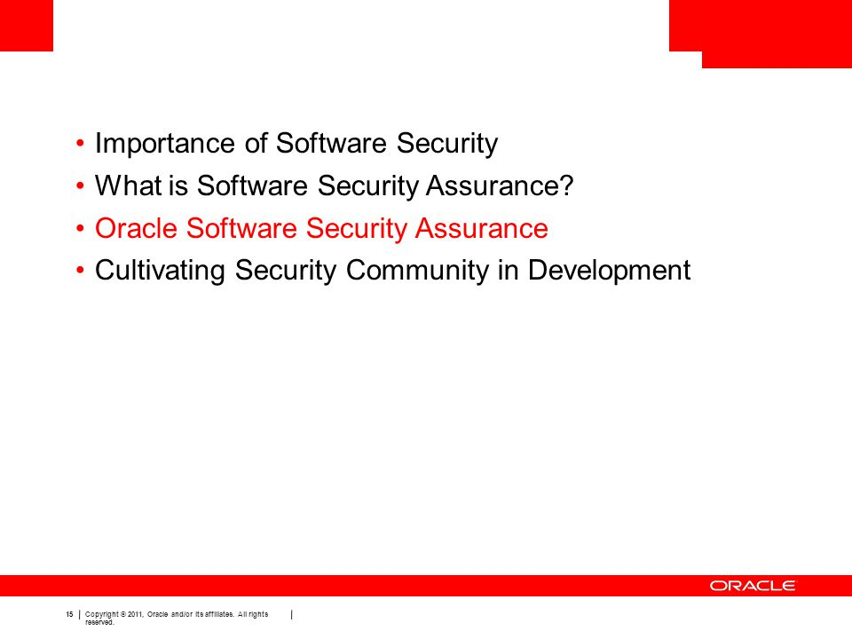 Importance of Software Security What is Software Security Assurance