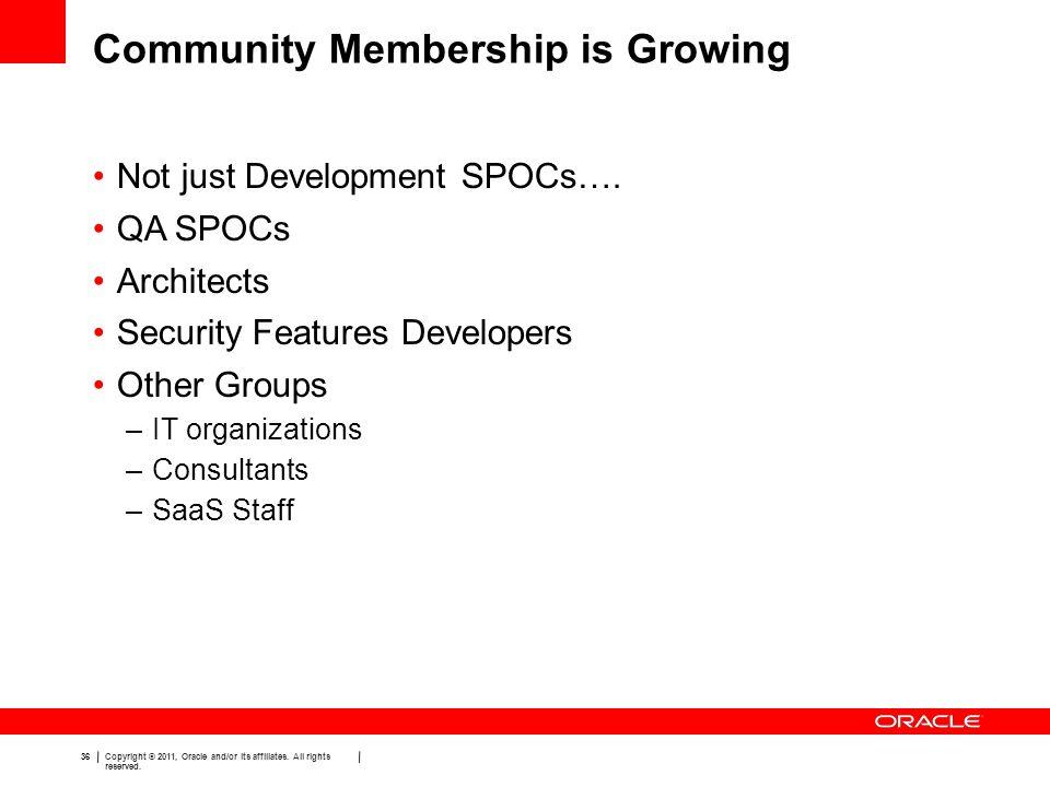Community Membership is Growing