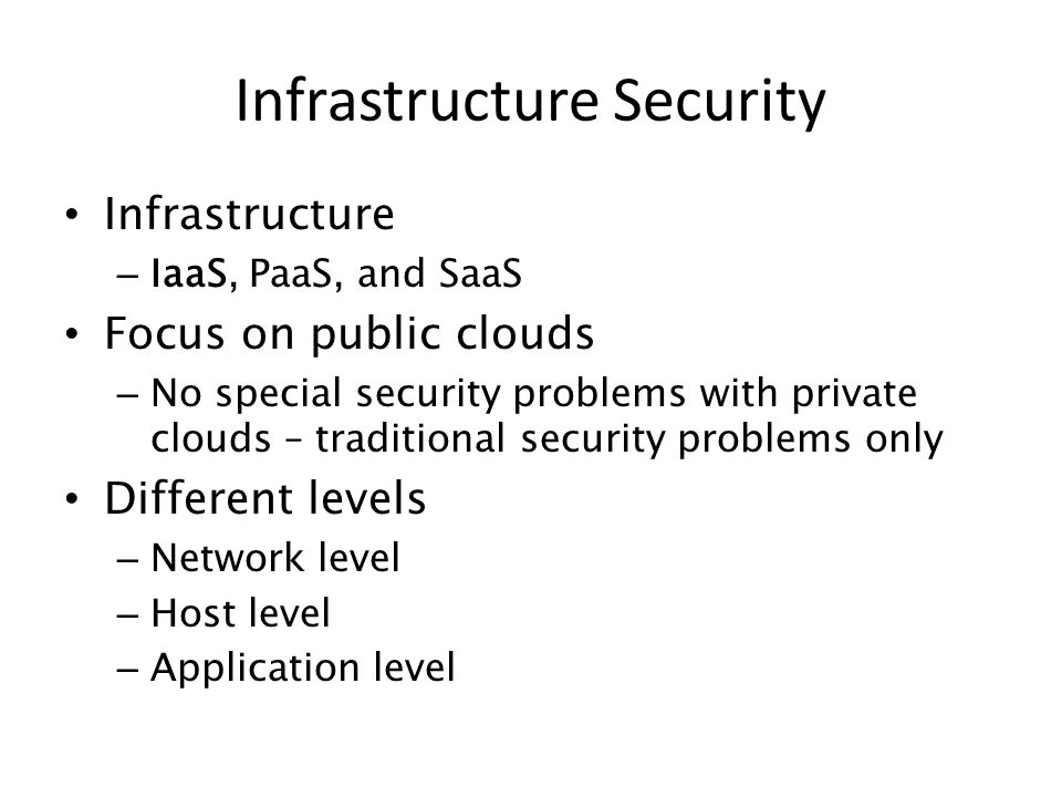 Infrastructure Security