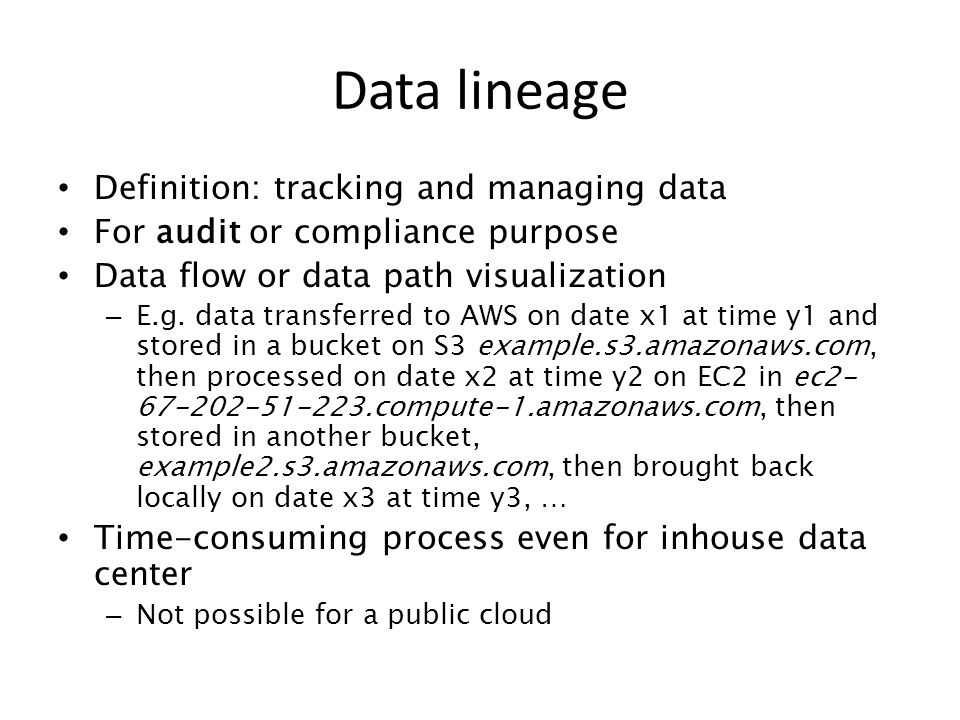Data lineage Definition: tracking and managing data
