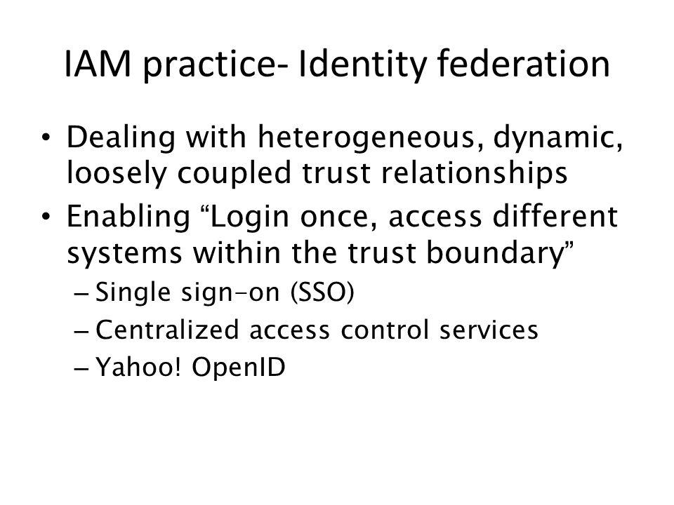 IAM practice- Identity federation