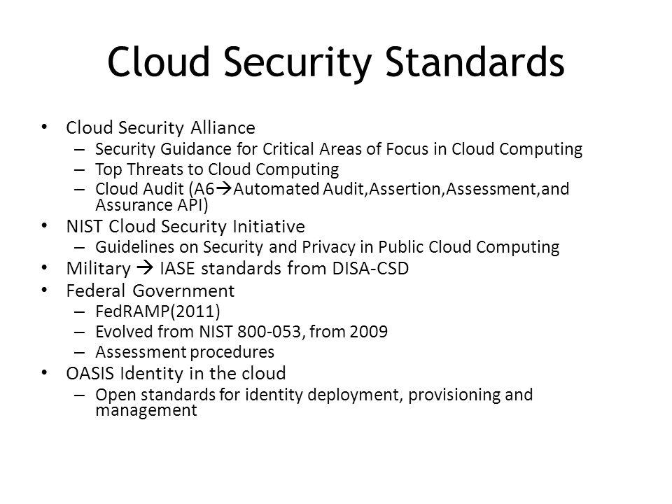 Cloud Security Standards