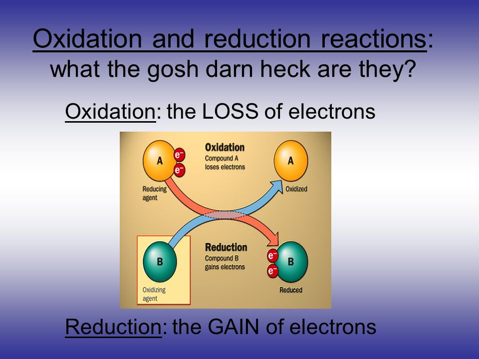 Oxidation and reduction reactions: what the gosh darn heck are they