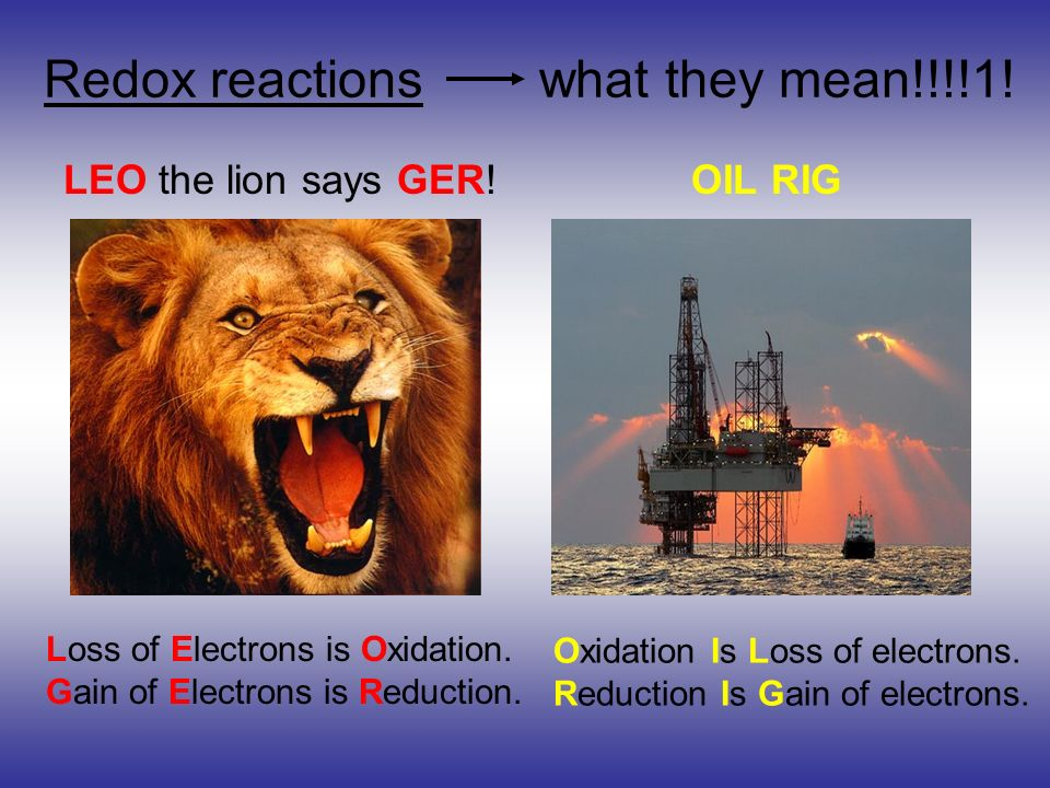Redox reactions what they mean!!!!1!