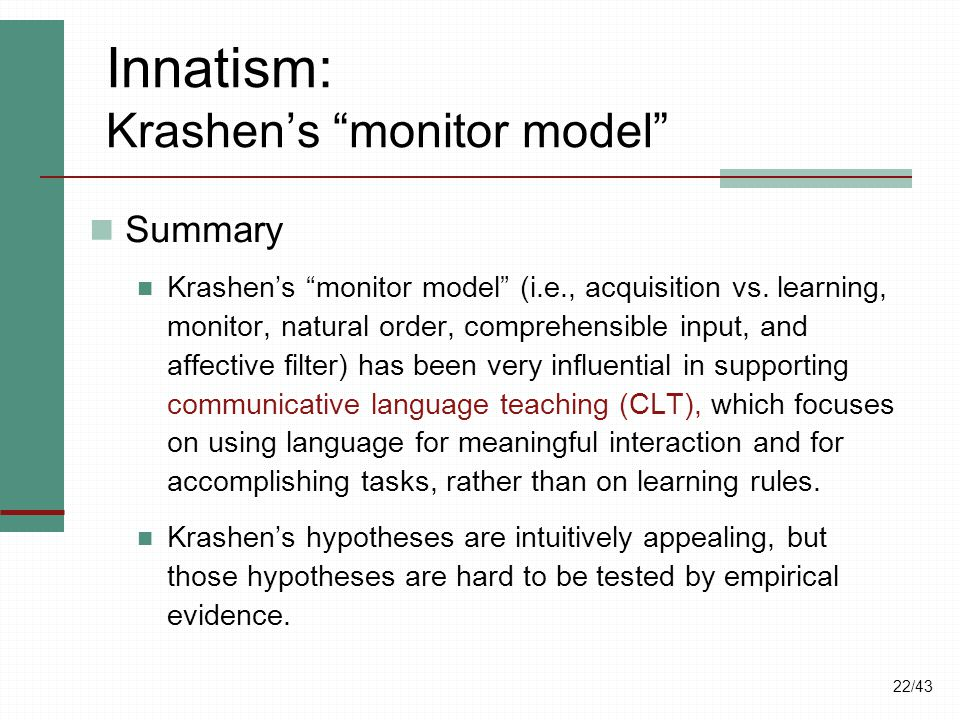 What are Krashen's Hypotheses? - blogspotcom