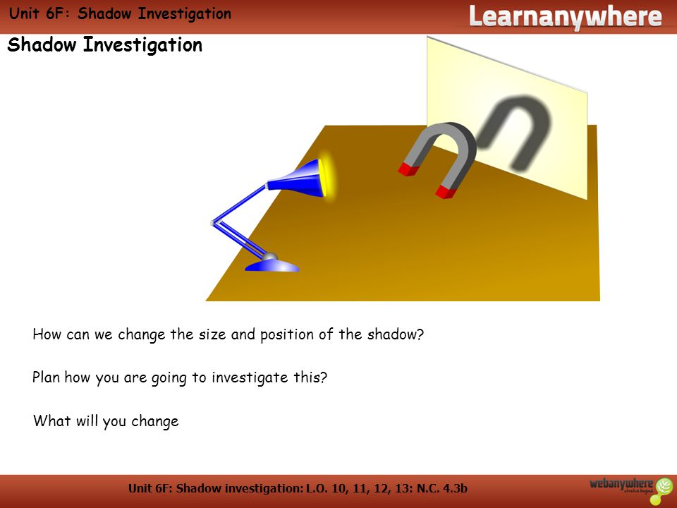 Unit 6F: Shadow Investigation
