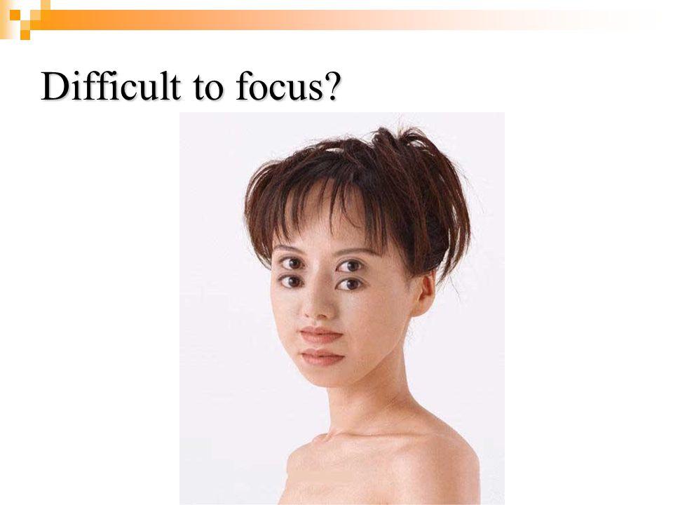 Difficult to focus