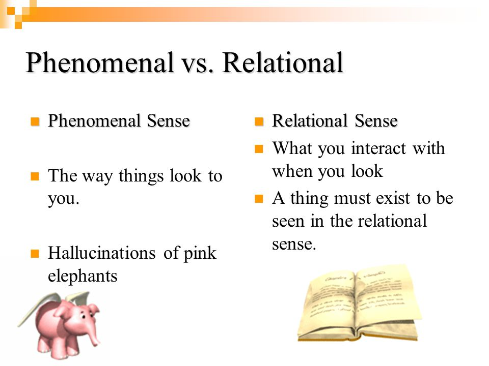 Phenomenal vs. Relational