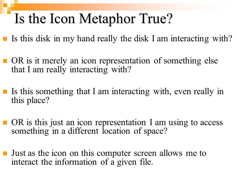 Is the Icon Metaphor True