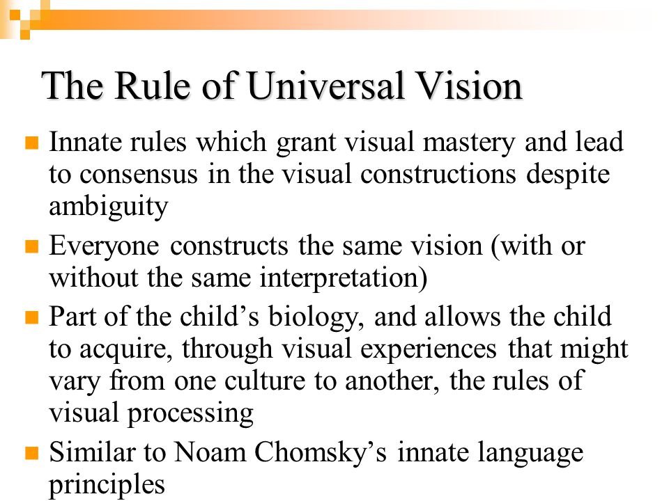 The Rule of Universal Vision