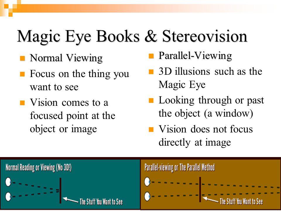 Magic Eye Books & Stereovision