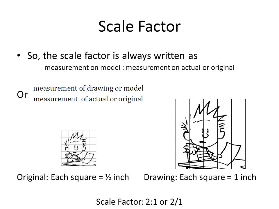measurement on model : measurement on actual or original