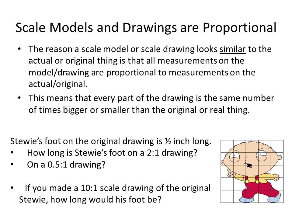 Scale Models and Drawings are Proportional