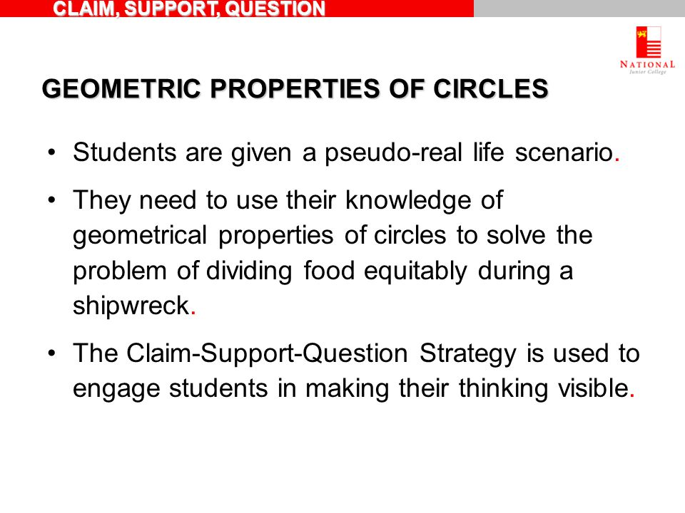 GEOMETRIC PROPERTIES OF CIRCLES