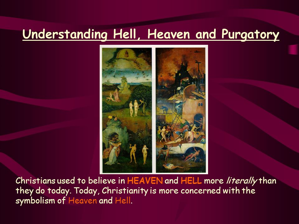 Understanding Hell, Heaven and Purgatory