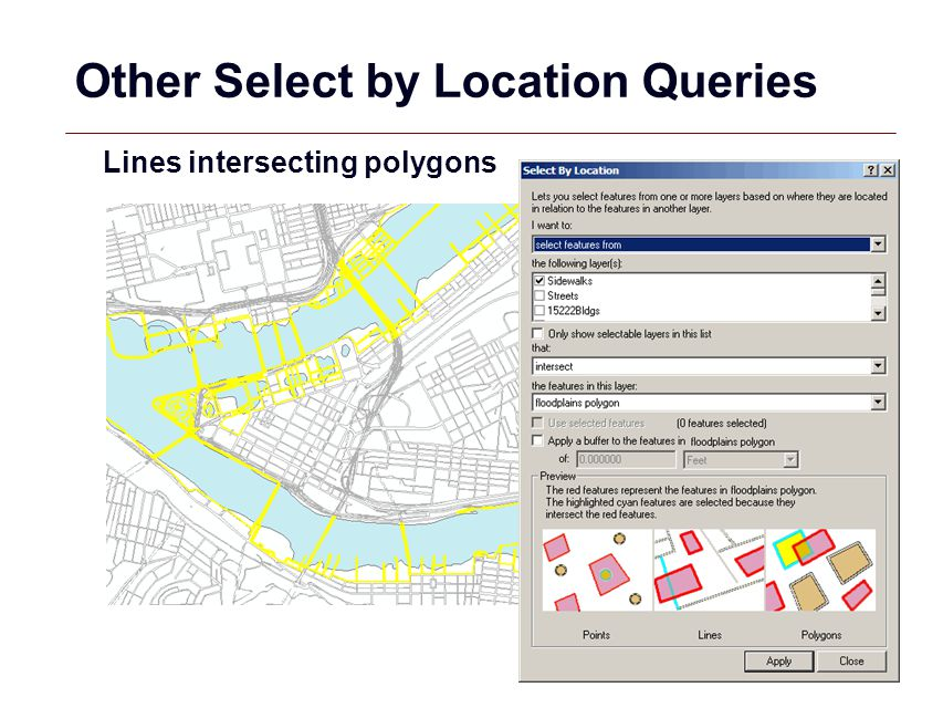 Other Select by Location Queries