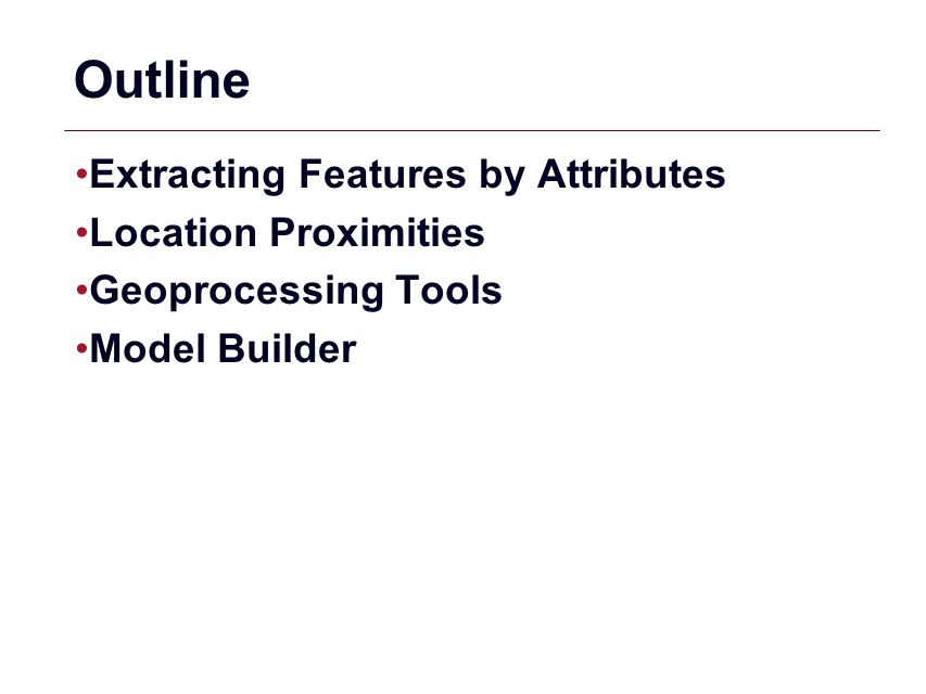 Outline Extracting Features by Attributes Location Proximities